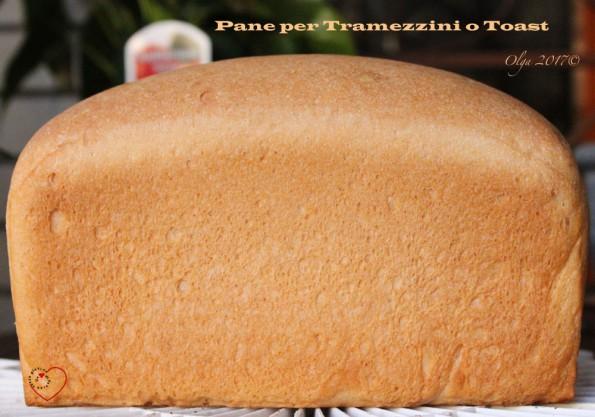 Pane per Tramezzini o Toast con lievito di birra