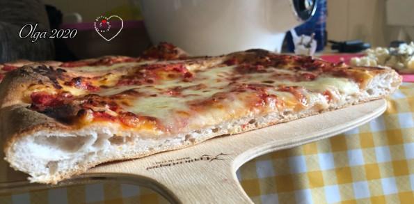 Pizza in teglia sezione