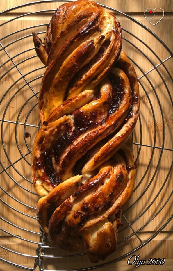 Treccia di Pasta Brioche all'Olio (Senza Uova)