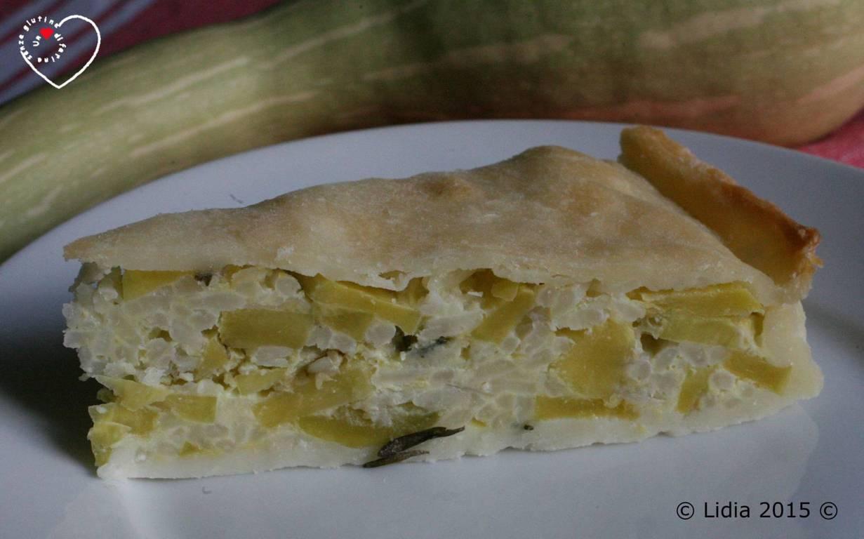 "Torta salata con Zucchina Trombetta ""d'Albenga"""