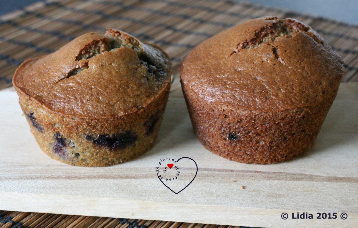Muffin ai mirtilli con farina di sorgo