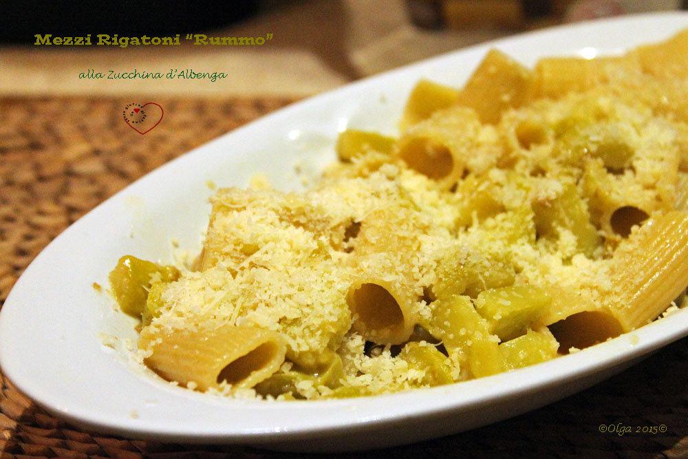 Mezzi Rigatoni con Zucchina d'Albenga