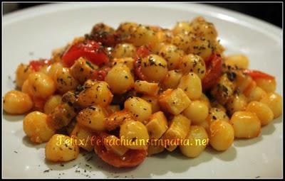 Perle di Patate o Spaghettini al Pesce Spada e Mentuccia Senza Glutine