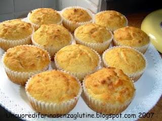 Muffins Senza Glutine al Formaggio
