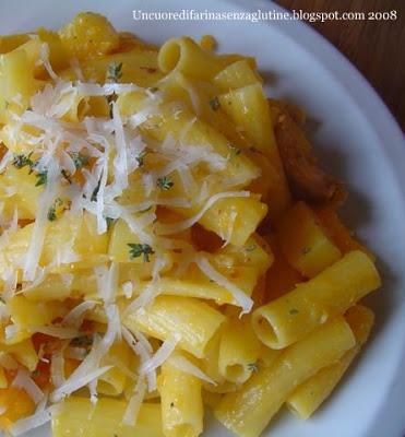 Rigatoni Piccanti con Zucca e Patate