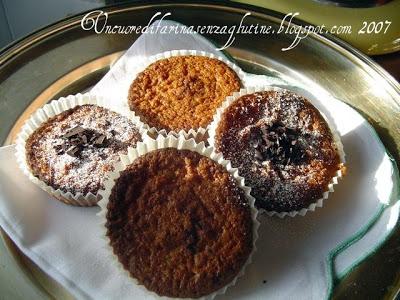 Muffins allo Zenzero e Cioccolato