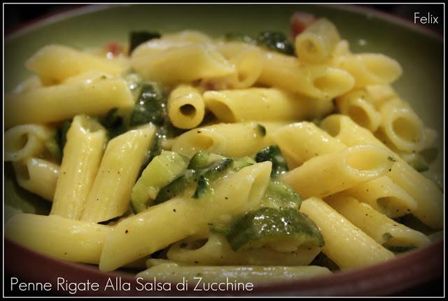 Rigatoni Senza Glutine di Grano Saraceno o Penne Rigate alla Salsa di Zucchine