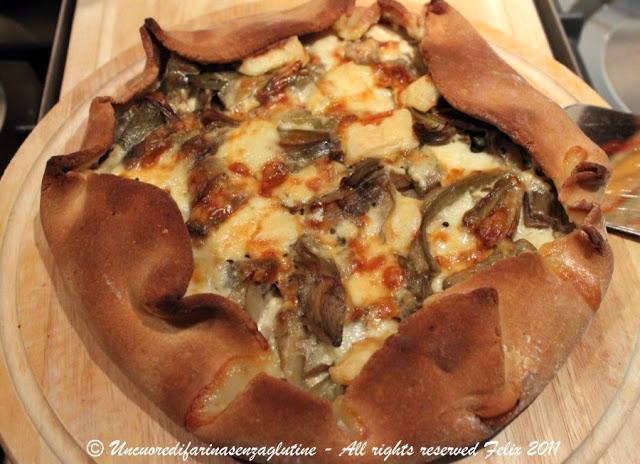 Torta Salata Carciofi e Stracchino