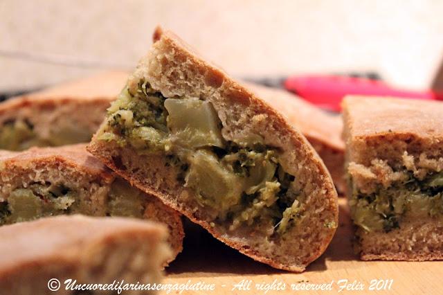 Pan Farcito Semintegrale ai Broccoli Ripassati
