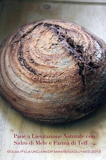 Pane A Lievitazione Naturale Con Sidro Di Mele e Farina di Teff