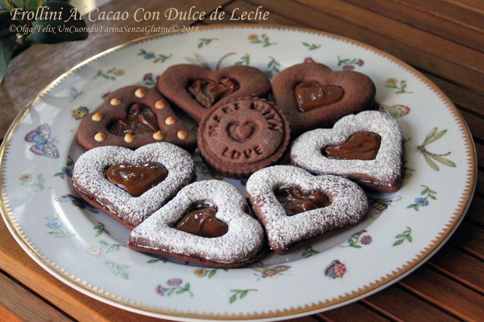 Frollini Al Cacao con Dulce de Leche