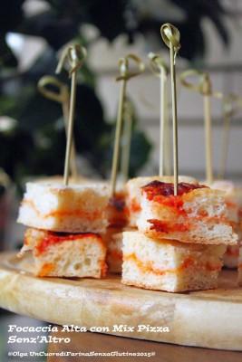Focaccia Alta e Morbida con Mix Pizza Senzaltro