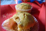 Muffins alle nocciole e prugne secche