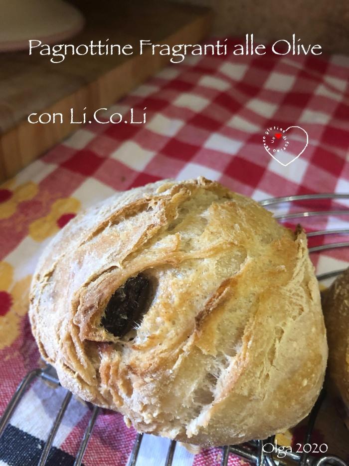Pagnottine Fragranti alle Olive con Li.Co.Li