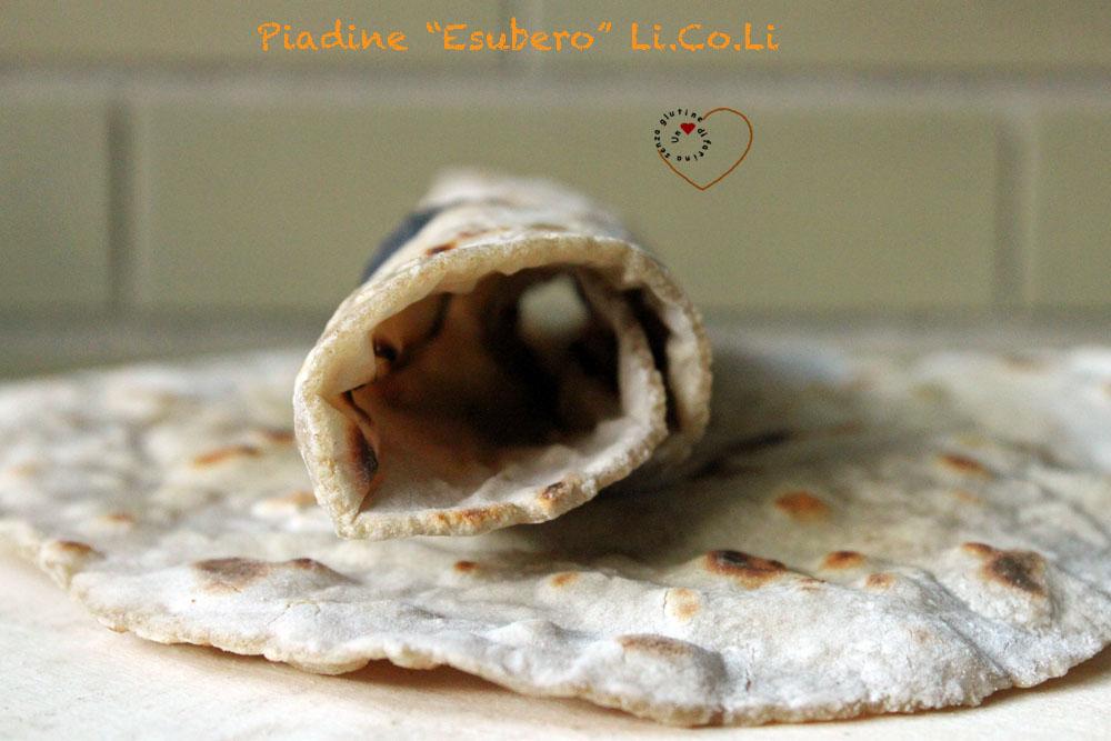 Piadine con Esubero di Li.Co.Li e Mix di farine naturalmente senza glutine