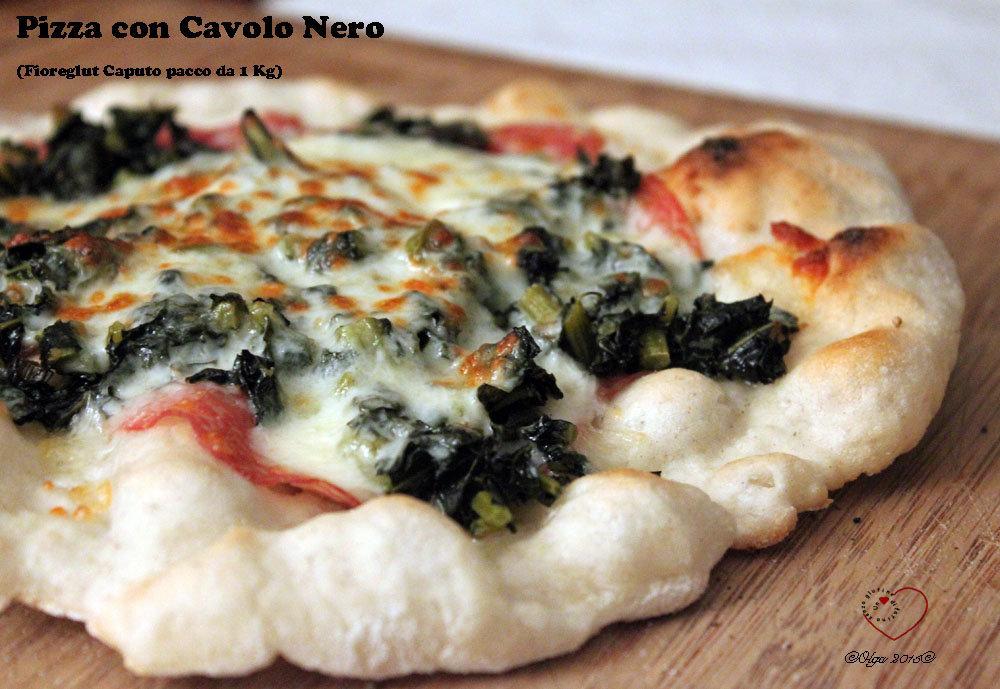 Pizza Sottile alla Romana con Cavolo Nero (Fioreglut Caputo)
