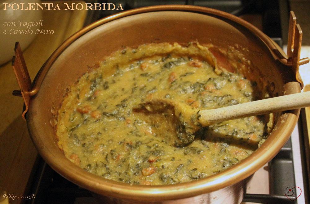 Polenta Morbida con Fagioli e Cavolo Nero