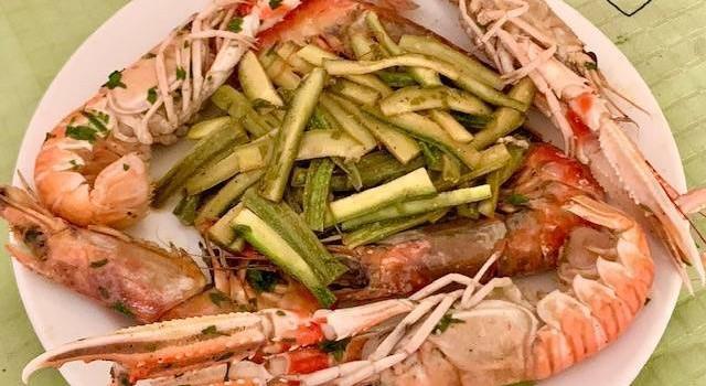 Spadellata di Gamberi e Scampi con Zucchine